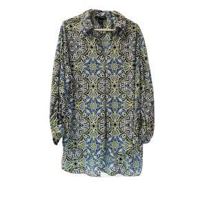 Ashley Stewart Long Sleeve Pullover Blouse SZ18/20